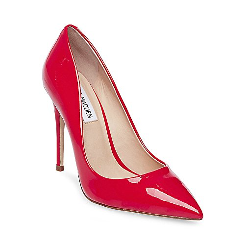 Steve Madden Women's Daisie Pump, Red, 7 M US