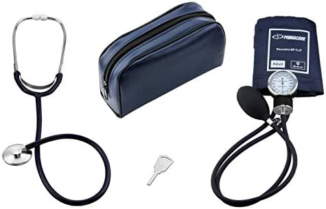 Primacare DS-9197-BL Classic Series Adult Blood Pressure Kit, With Stehoscope Blue