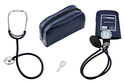 Doctors Equipment - Primacare DS-9197-BL Classic Series Adult Blood Pressure Kit, With Stehoscope Blue