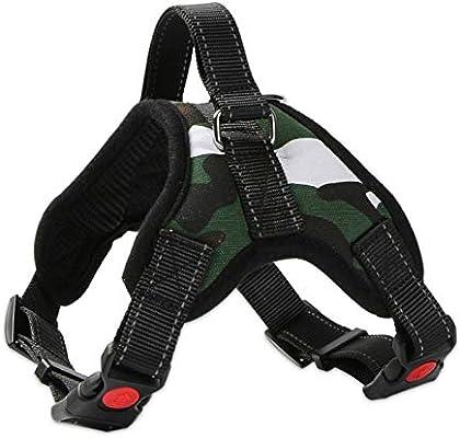 LSTDD Nylon Heavy Duty Dog Arnés para Mascotas Collar K9 Acolchado ...