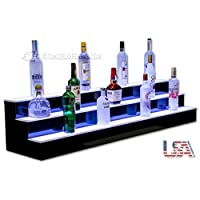 Customized Designs 3 Step LED Lighted Bar Shelves, Liquor Shelves, Bottle Display