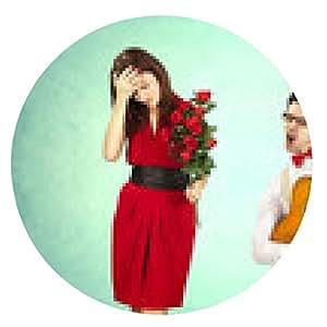 alfombrilla de ratón Día de San Valentín divertido, serie de diferentes actos que se acercan - ronda - 20cm