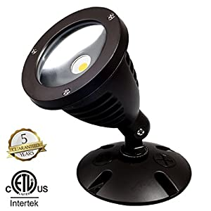 TOPELE 1100LM LED Flood Light, LED Outdoor Security Light, Exterior Flood Lights Fixture with CREE LED Source for Landscape Light, Commercial, Home, Garden, Yard, Waterproof, Brown