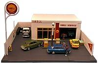 1/64 ガソリンスタンド(シェル) 「トミカラマ ヴィンテージ 02a」の商品画像