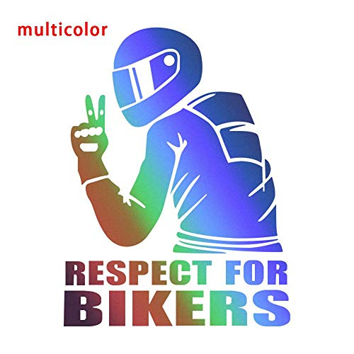 3D Respect for Cyclists Waterproof Reflective Biker Motorcycle Car Auto Accessoires Sticker Decal Funny JDM Vinyl On Car Styling White from Beau Right6