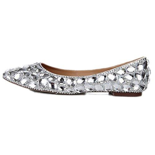 Piatte Lacitena da Donna Donna Strass con da Diamante Eleganti e Scarpe 5wwrRqnEf