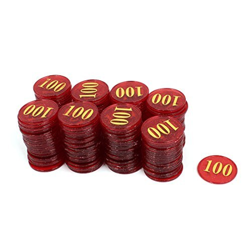 DealMux Casino do cartão do número plástico 100 Imprimir Rodada Poker Chips 160pcs Burgundy by DealMux