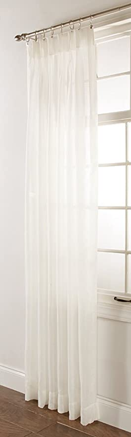 Stylemaster Splendor Pinch Pleated Patio Window Panel, 96 By 84 Inch, Beige