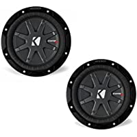 Kicker CompRT package - Two 6 3/4 CompRT Subwoofers Dual 2 Ohm 40CWRT672