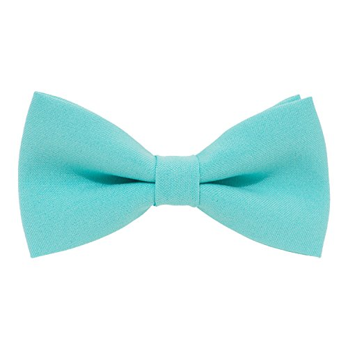Classic Pre-Tied Bow Tie Formal Solid Tuxedo, by Bow Tie House (Medium, - Color Pine Green