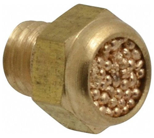 M5x0.8 Metric, 8.5mm OAL, Muffler 175 Max psi, 0.9 CFM, 65 Decibel Rating, Bronze by Legris