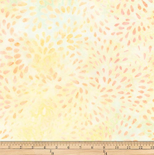 Robert Kaufman Elementals Petals Batik Petals Fabric, Daffodil, Fabric By The Yard