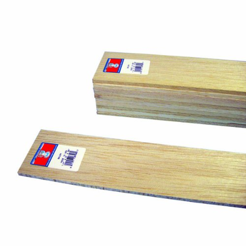 Midwest Products 6306 Micro-Cut Quality Balsa 36-Inch Sheet Bundle, 0.25 x 3 Inches