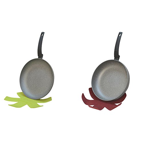 11' Non Stick Skillet (11'' and 12'' Lava Stone Fry Frying Pan Felt pad Non Stick Scratch Resistant Skillet Eco Friendly)