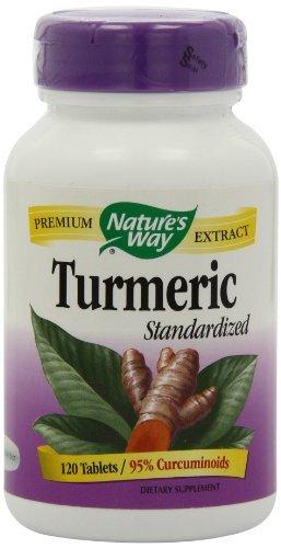 Nature's Way Standardized Turmeric; 95% Curcuminoids; TRU-ID Certified; Vegetarian, 120 Tablets