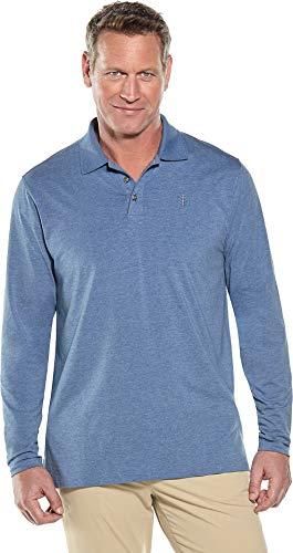 Coolibar UPF 50+ Mens Long Sleeve Weekend Polo Shirt - Sun Protective