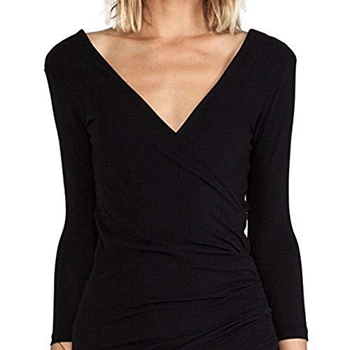 James Perse Wrap Tuck Dress-Size 1 Black