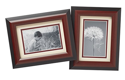 Old Town 5x7 Walnut Step Wood Frame, 4-pack - New Zealand Pine and Malaysian Durian for a Gallery Ready Presentation (4, Walnut Step)