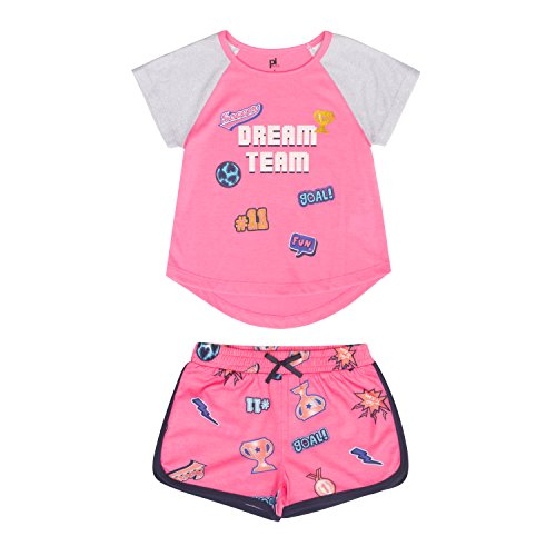 Petit Lem Little Girls' 2-Piece Pajama Set, Comfortable, Cute and Cozy Softness, Fuchsia, (Kids Adventure Time Onesie)