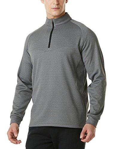 - TM-YKZ03-GRY_Small Tesla Men's Winterwear Sporty Slim Fit 1/4 Zip Fleece Lining Sweatshirt YKZ03