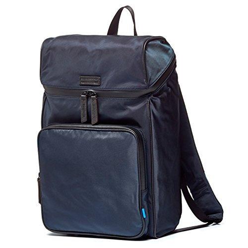 Uri Minkoff Stanton Backpack Soft Napa Leather w/ Black Twill Lining, Ocean Blue (Laptop Stanton Bag)
