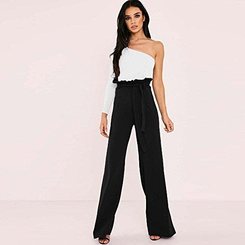 Larga Nero Donna Svasato Vita Cintura Elegante Pants Trousers Pantaloni Gamba Palazzo Alta Larghi Clubwear Topgrowth a aXZxUnpp