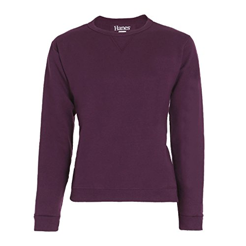Hanes Women's V-Notch Pullover Fleece Sweatshirt (Large, (Hanes Port)