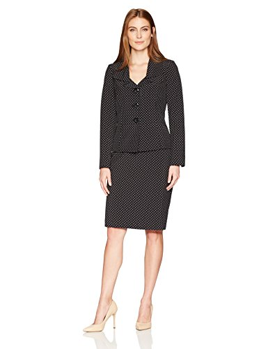 Three Button Skirt Suit - 8