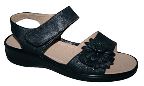 y Sandalias mujer de mate ligeras el acolchadas con correa para negro verano para cierre C5CUrxF