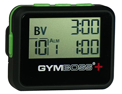 (Gymboss Plus Interval Timer and Stopwatch - Black/Green)