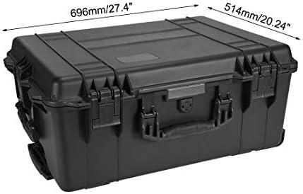sourcing map Estuche duro impermeable lleva con relleno de espuma de protección IP67 Caja 24.72