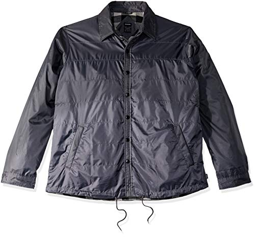 Dickies Men's Modern Fit Nylon Shirt Jacket Big, Charooal, 4X