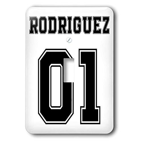 (3dRose Carsten Reisinger - Illustrations - Rodriguez 01 Hispanic Latino Surname Last Name - double toggle switch (lsp_318844_2))