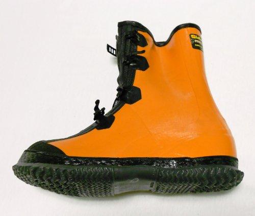 LaCrosse Overshoes 4 Buckle, Orange w/ Black Size 8