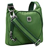 Lewis N. Clark Anti-theft Crossbody Purse + Sling Bag for Women, Men, Travel or Work with RFID Blocking Technology, Slash Resistant Material, Locking Zippers & Adjustable Shoulder Strap, Moss