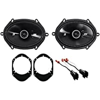 Kicker 6x8 Rear Speaker Replacement Kit For 2008-2010 Ford F-250/350/450/550