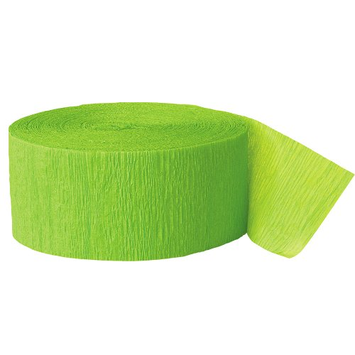 Crepe Paper Streamers, 500 Feet, Lime Green by Unique