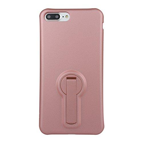 Funda iPhone 7 Silicona, Rosa Schleife Ultra delgado Cubierta de la caja del silicón de TPU Caso Carcasa cubrir con diseño de chapado de la contraportada Función de Soporte Funda de Móvil para el iPho Plating - Oro Rosa