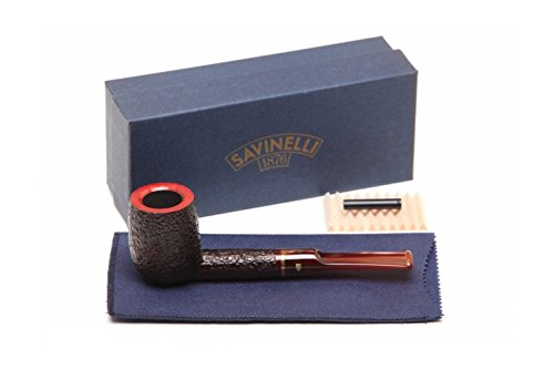Savinelli Italian Tobacco Smoking Pipes, Roma Lucite 114 KS ()