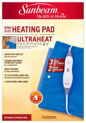 Sunbeam 722-810 Moist Heating Pad, King Size