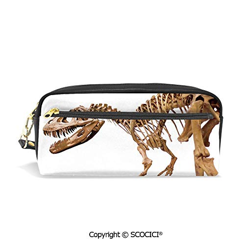 Fasion Pencil Case Big Capacity Pencil Bag Makeup Pen Pouch Archeology Museum Theme Wild Tyrannosaurus Rex Skeleton Jurassic Period Durable Students Stationery Pen Holder for School