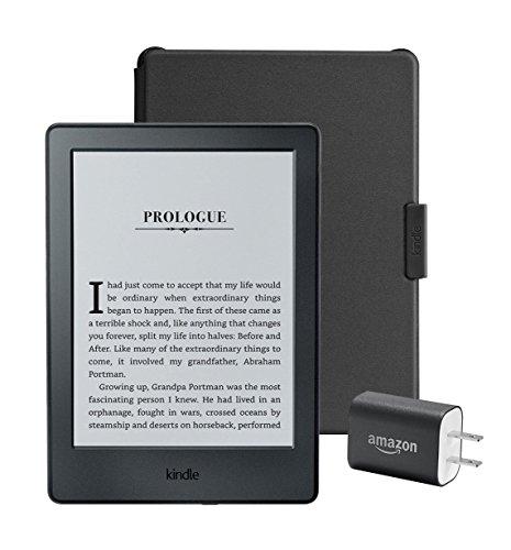 """Kindle Essentials Bundle including Kindle 6"""" E-Reader, Black with"""