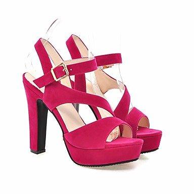 Chunky Cuero Comfort Negro Sandalias Tacón De Casual Peach Almendra Melocotón De Nubuck Otoño Zapatos Womens De Primavera FSCHOOLY t4qwAS7tx