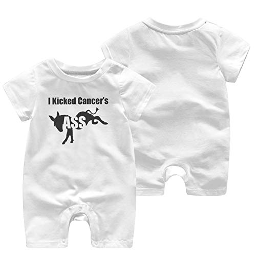 I Kicked Cancer'S Ass Baby Babys Baby'S Short Sleeve Jumpsuit Coverall Cotton Soft Coverall