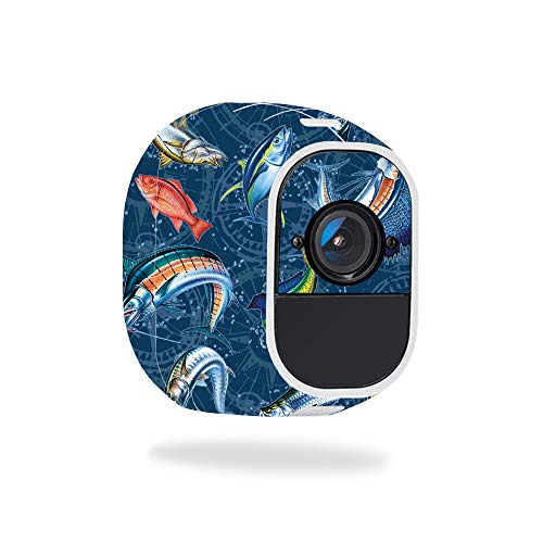- MightySkins Skin for Netgear Arlo Pro - Saltwater Compass | Protective, Durable, and Unique Vinyl Decal wrap Cover | Easy to Apply, Remove, and Change Styles | Made in The USA