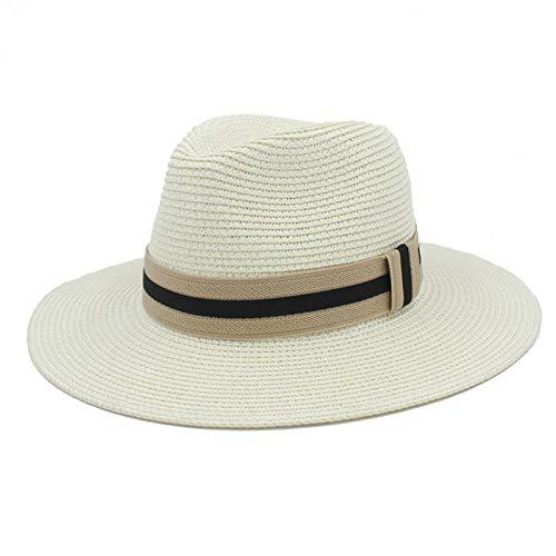 Brim Homburg - CGXBZA Summer Women Men Straw Sun Hat for Elegant Lady Wide Brim Homburg Fedora Sunbonnet Beach Sunhat Panama Cap