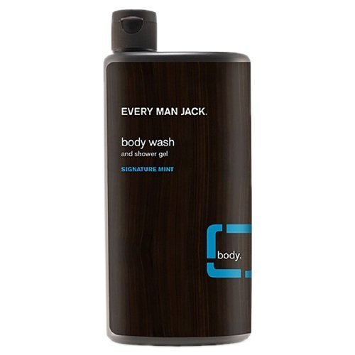 Every Man Jack Body Wash and Shower Gel, Signature Mint--16.9 oz (500 ml) (Mint Gel Signature)