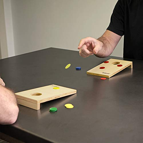 GoSports Coinshot Mini Tabletop Cornhole Game Set
