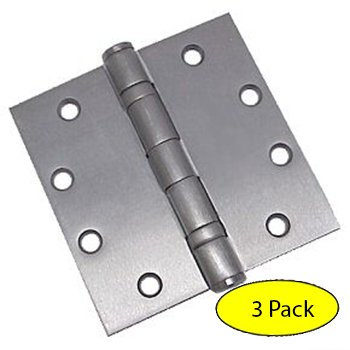 Dynasty Hardware Commercial Grade Ball Bearing Door Hinge 4-1/2 x 4-  sc 1 st  Amazon.com : chrome door hinges - pezcame.com