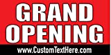 Custom Printed Grand Opening Banner - Red (10' x 5')